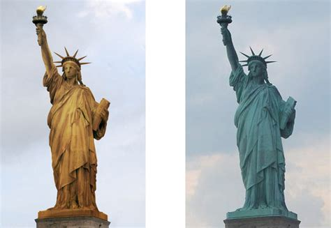 original statue of liberty color 1886 the statue of liberty was originally of a different