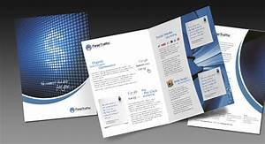 One Fold Brochure Design And Printing For Seo And Digital Marketing Services