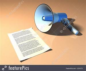 Illustration Of Megaphone And Announcement