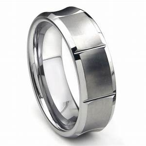 tungsten carbide concave wedding band ring w horizontal With tungsten carbide wedding ring