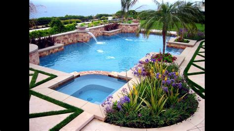 Pool Backyard Ideas by Swimming Pool Landscaping Ideas For Backyard
