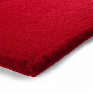 tapis de salle de bain de prestige rouge With tapis de bain rouge
