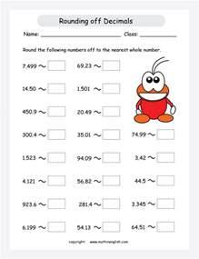 Rounding Off Decimals Numbers Worksheets