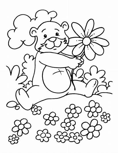 Coloring Spring Pages Season Springtime Drawing Lovely