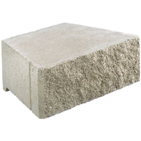 shop basic gray retaining wall block common 6 in x 17 in