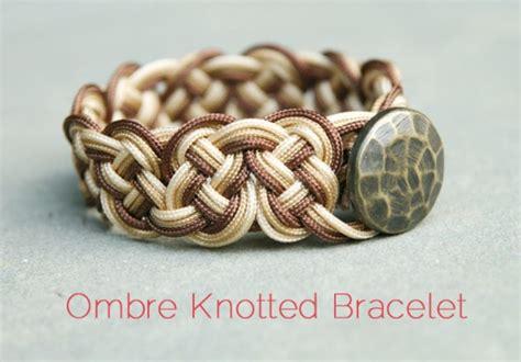 wonderful diy cool knotted bracelet