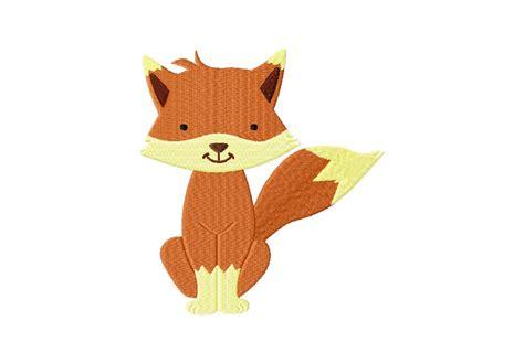 Free Cartoon Fox Machine Embroidery Design