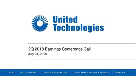 United Technologies Corporation 2018 Q2 - Results ...