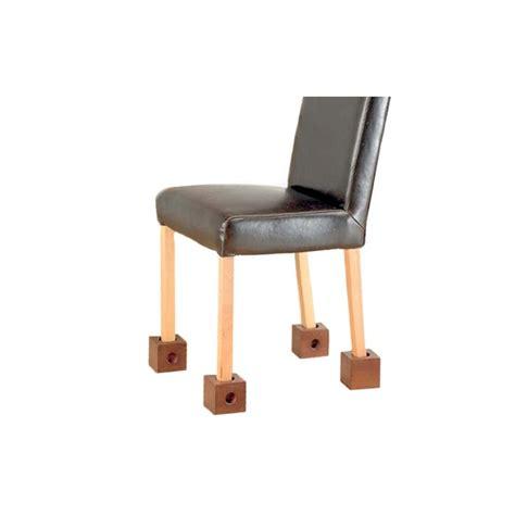 comment rehausser une chaise lot de 4 réhausseurs de chaise blox accessoires literie tous ergo