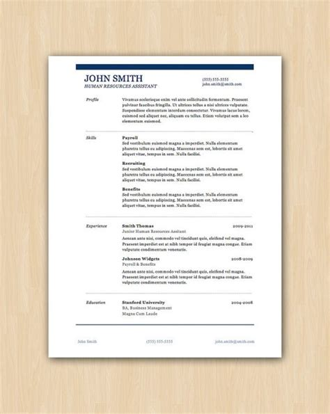 the smith design professional resume template instant
