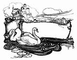 Swan Coloring Trumpeter Adult Lake Trumpet Sheets Printable Animals Activities sketch template