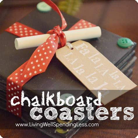 diy chalkboard coaster set homemade gift idea handmade