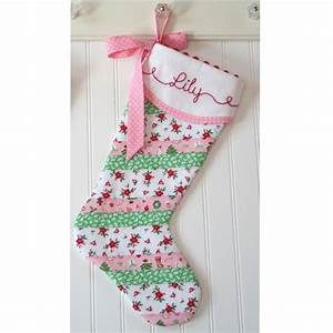 Personalized, Christmas, Stocking, Baby, First, Christmas, Pink, And, Green, Baby, Gi, U2026