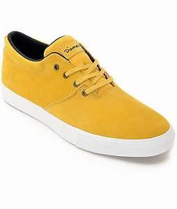 Diamond Supply Co Torey Mustard & White Skate Shoes at ...