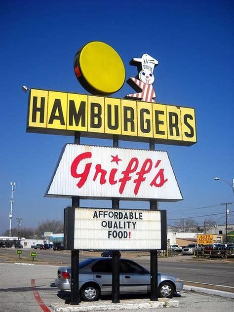 hamburgers texas irving griffs griff burgers 1950 dallas signs