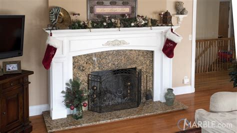 giallo napole granite fireplace surrounds