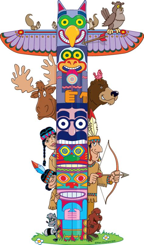 illustration quebec marc chouinard totem en folie