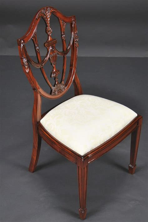 prince  wales mahogany carved shield  dining room chairs