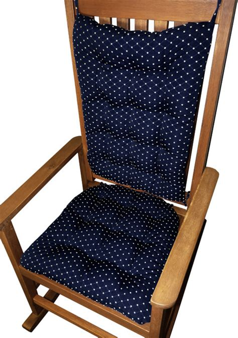tiffanie navy blue brocade rocking chair cushions
