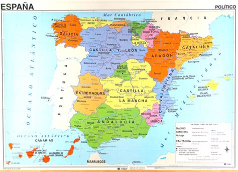 map  spain  spanish  travel information
