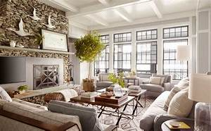 Inspiring lake house decor ideas the awesome lake retreat for Interior decorated house pictures