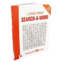 Word Search Large Print Books