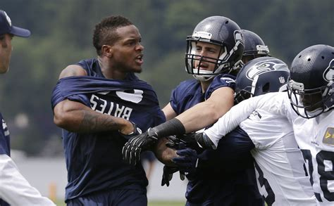 richard sherman phil bates throw punches  fight