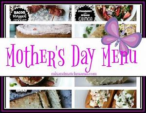 Mother's Day Menu | Mix and Match Mama