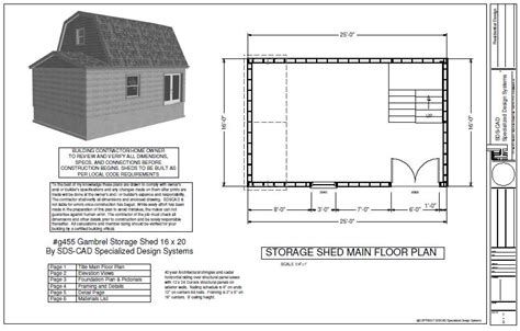 16x20 Gambrel Shed Plans by Gambrel 16 X 20 Shed Plan Pole Barn Plans
