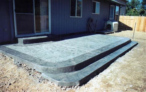 Backyard Concrete Slab by Concrete Patio Ideas For Small Backyards Best Concrete