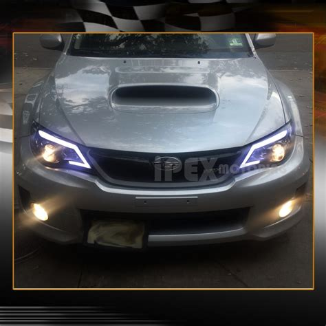 2008 2014 subaru impreza wrx projector black smoked led