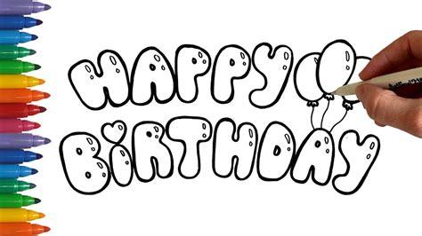 write happy birthday  bubble balloon letters