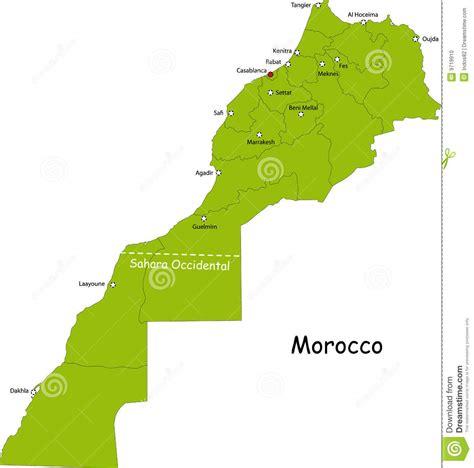 Carte Du Maroc Avec Les Principales Villes by Carte Du Maroc Photo Stock Image 9719910