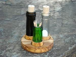 Glasschneider Für Flaschen : set salz pfeffer recycelte flaschen olivenholz k che von alentejoazul pfeffer ~ Watch28wear.com Haus und Dekorationen