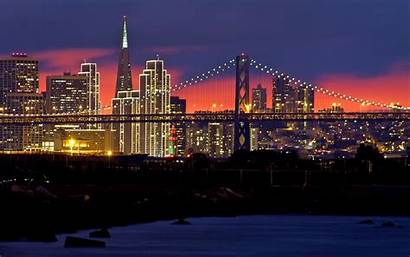 Francisco San Sunset Usa Night Desktop Skyline