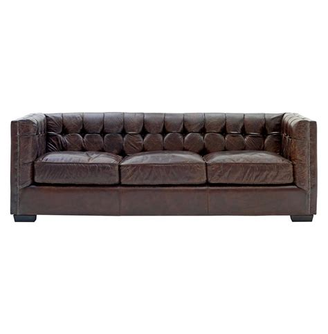rustic brown leather sofa owen rustic lodge vintage brown leather arm sofa kathy