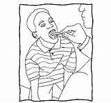Throat Coloring Examination Colorear Coloringcrew sketch template
