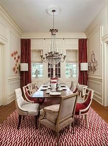 decoration salle a manger elegante en rouge With salle a manger luxueuse