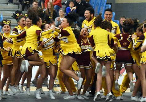 nhs cheer team wins  state titles local sports news
