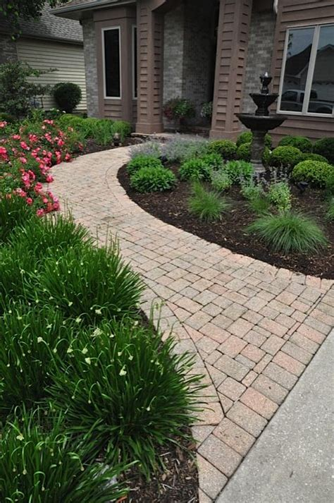 landscaping walkway to front door feng shui landscape curved sidewalks lead to the front door mouth of chi energy water