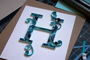 craftastical tutorial quilled monogram letter With papercraft letters