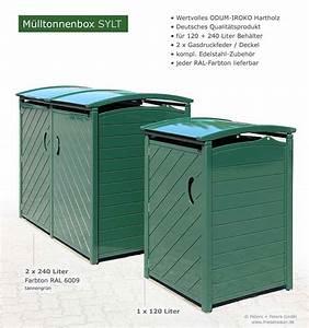 Mülltonnenbox Holz Anthrazit : exklusive m lltonnenbox m lltonnenboxen holz gr n oder ral lackiert 25 jahre garantie ~ Whattoseeinmadrid.com Haus und Dekorationen