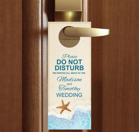 custom door hangers 9 wedding door hanger templates for free sle
