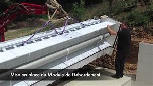 pose d39un module de debordement piscine o viva youtube With pose de margelle de piscine