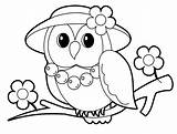 Coloring Pages Owls Owl Printable Getcolorings sketch template