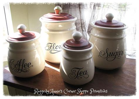 Primitive Easter Decor Canister Set by Primitive Americana Farmhouse Set Of 4 Canisters