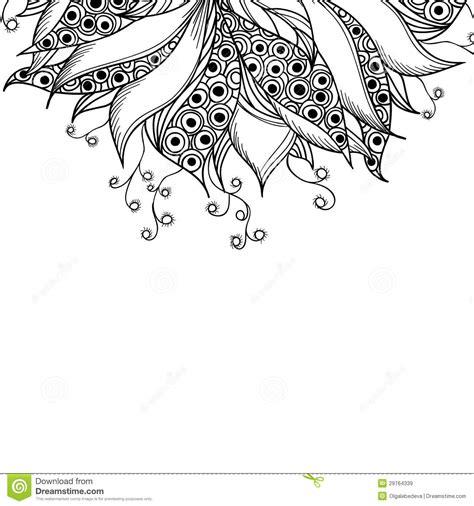 card template  fantasy black  white flower royalty
