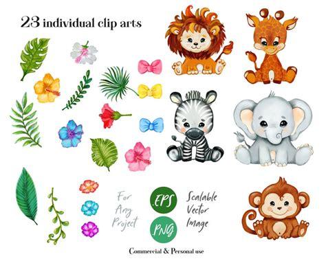 File svg clip art cut file printable print png dxf pdf cut. Safari baby animals, svg files for cricut, clip art