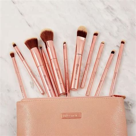 bh cosmetics metal rose piece brush set cosmetic