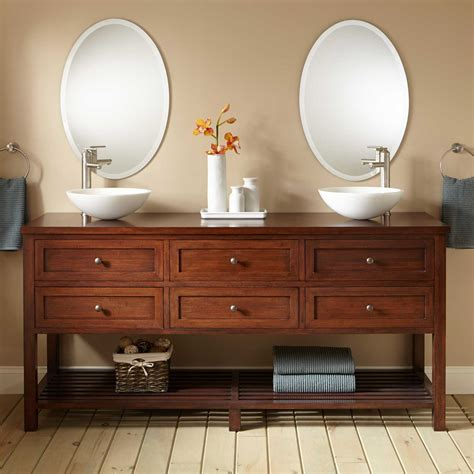 double vessel sink vanity 72 quot taren bamboo double vessel sink vanity